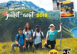 Brochure des colonies de vacances été 2018