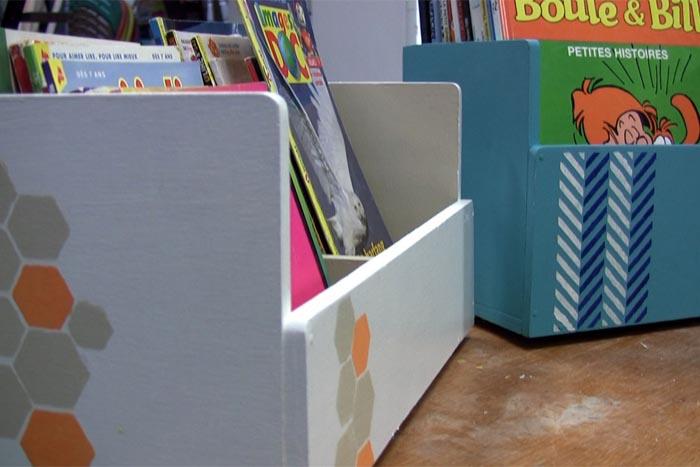 Fabriquer des pr sentoirs et bacs livres en bois - Fabriquer sa bibliotheque en bois ...