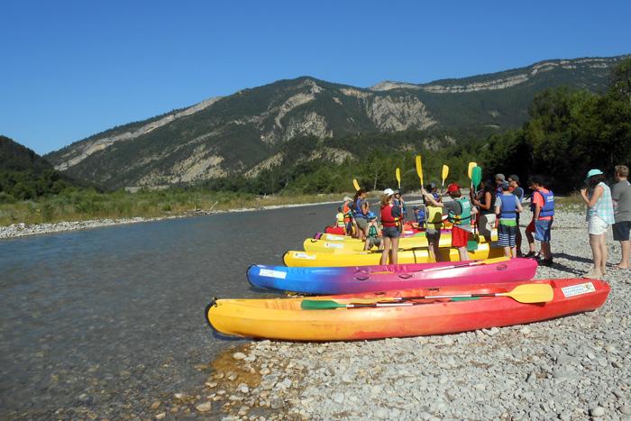 Promenade en kayak sur la Drôme