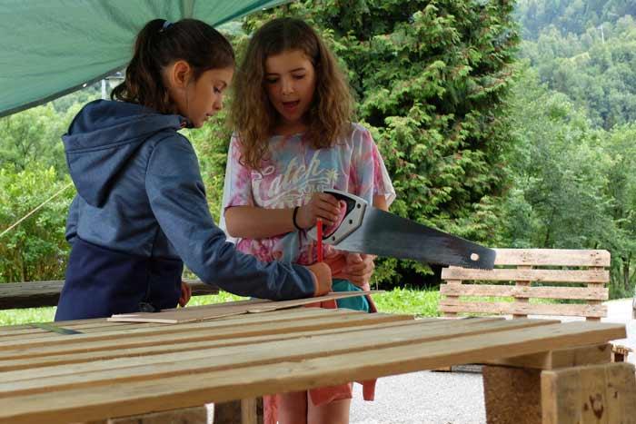Travail en cours à l'atelier bois !
