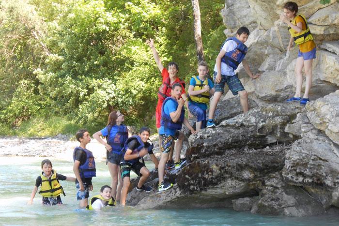 Plongeons dans la Drôme en colo