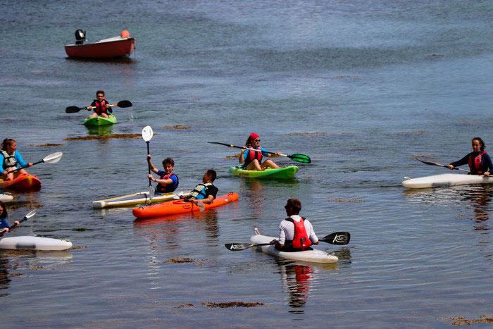 Apprentissage des bases du kayak