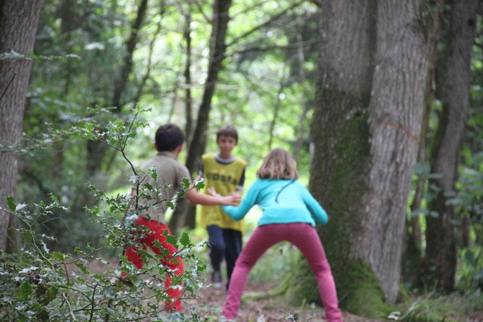 Jeux en forêt