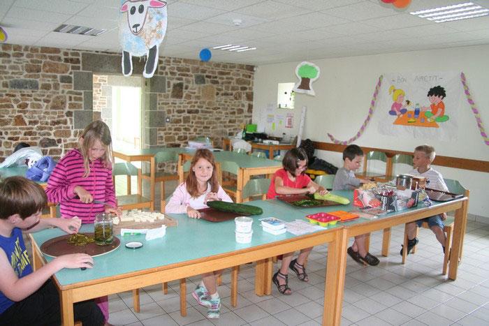 Un atelier cuisine en colo