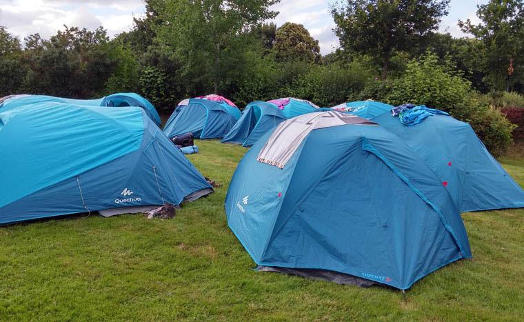 Les tentes réservées au couchage