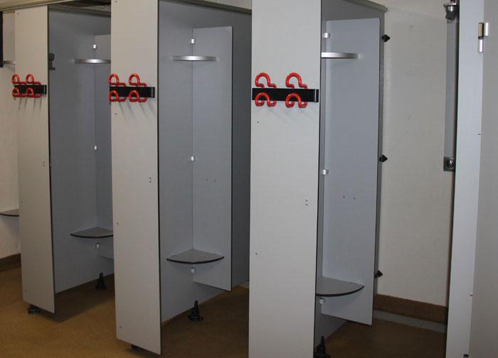 Les installations sanitaires du centre