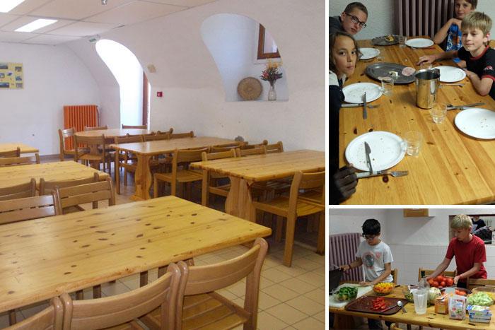 La salle à manger voûtée