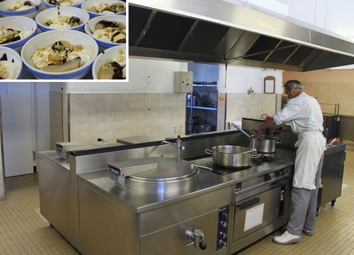 La cuisine ou sont préparés tous les repas