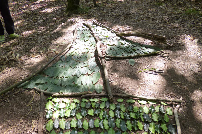 Land art en forêt