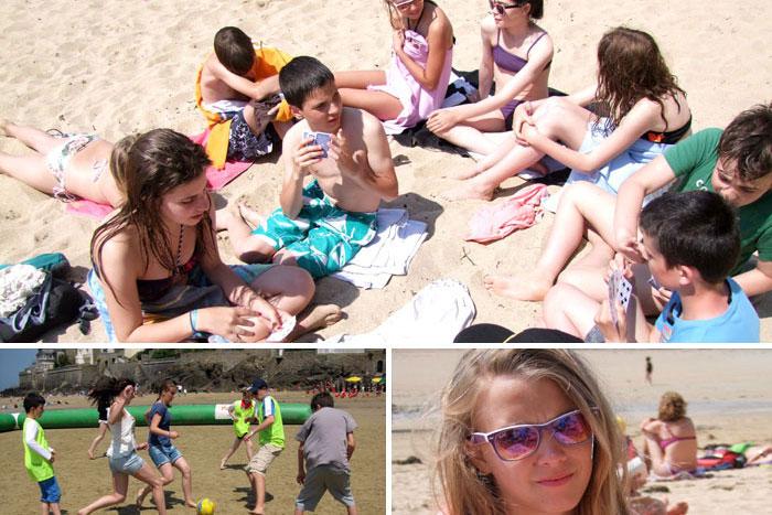 Jeux sur la plage de Saint-Malo