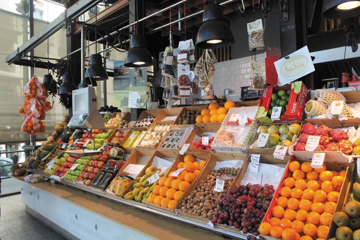 Un marché typique en centre-ville
