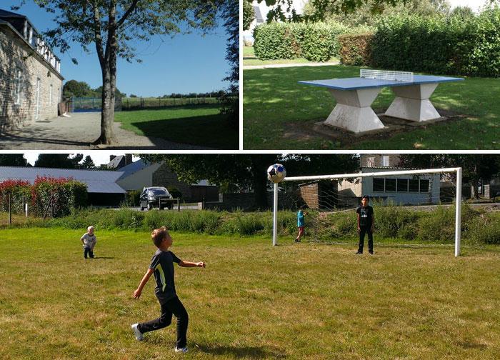 Les terrains de jeux autour du centre de vacances