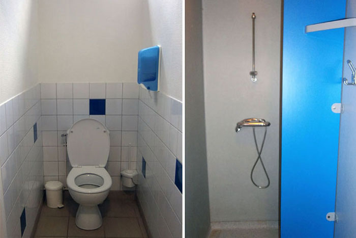 Les sanitaires des chambres