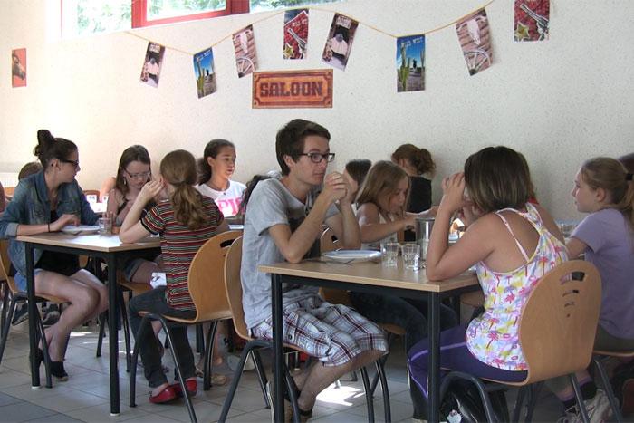 La salle à manger du centre