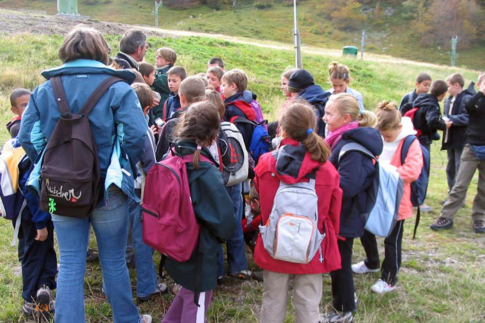 Randonnée d'une colo en Auvergne