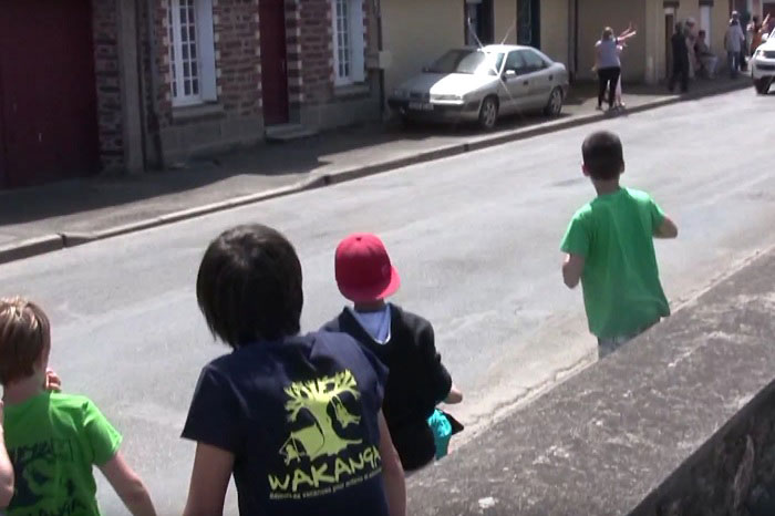 Enfants au tour de France