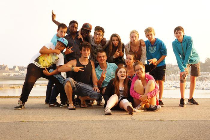 Groupe d'ados à Saint Malo