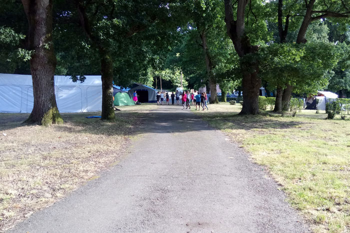 Vue générale du camping